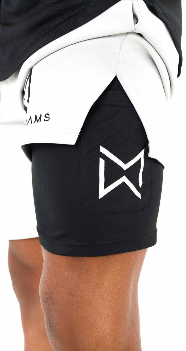 ^Hyper-Duo^ Cool Grey Compression Shorts