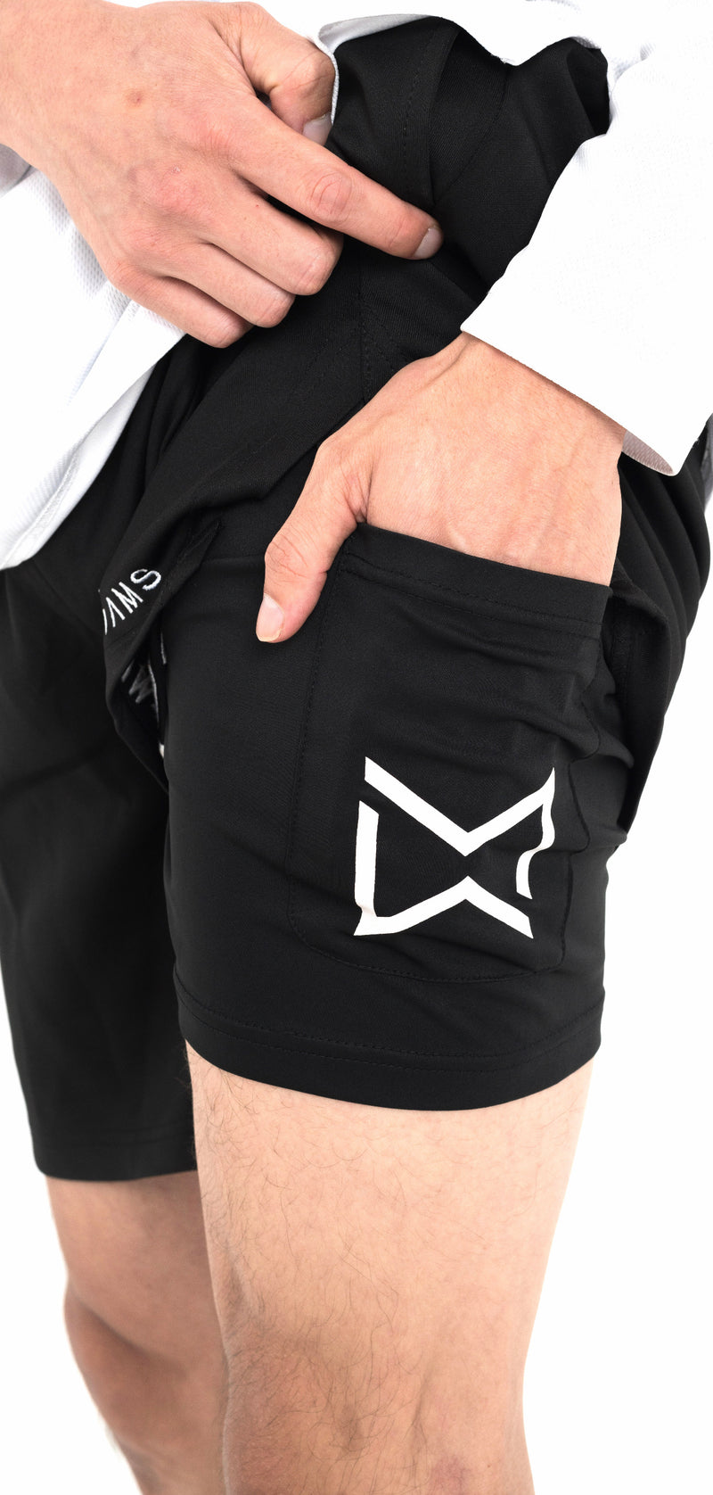 ^Hyper-Duo^ Jet Black Compression Shorts