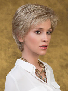 CARMEN - SHORT WAVES - 100% hand tied lace front mono top wig