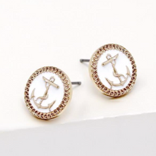 Load image into Gallery viewer, Anchor Stud Earrings