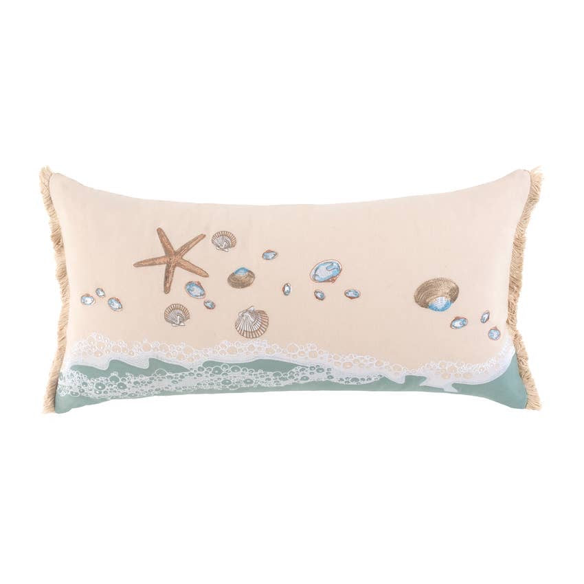 Shells and Sand Lumbar Pillow