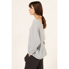 Load image into Gallery viewer, Light Knit V Neck Tee In Mist