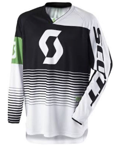 YOUTH SCOTT JERSEY 350 TRACK BLACK/WHITE