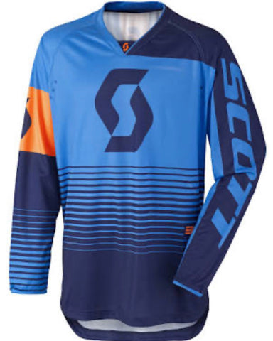 SCOTT JERSEY 350 TRACK BLUE/ORANGE