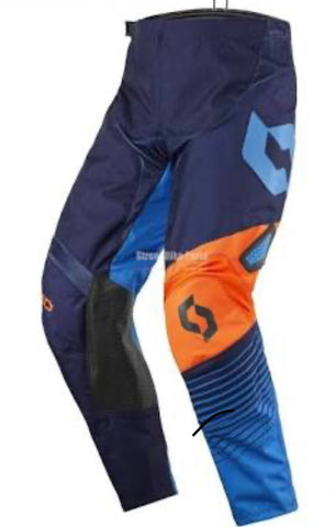 SCOTT 350 TRACK PANT BLUE/ORNAGE