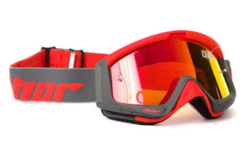 THOR SNIPER GOGGLES CHARCOAL/ORANGE