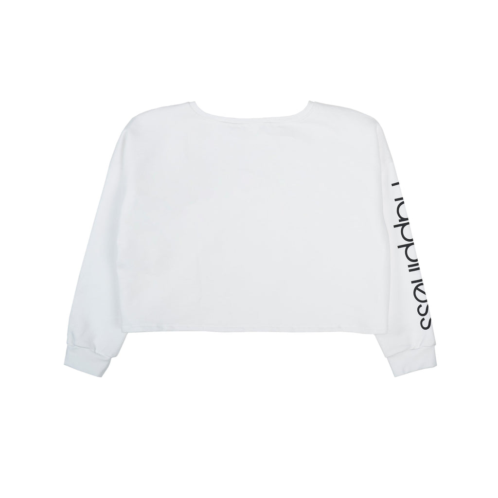 Crop Donna - Happiness Sleeve Print e nodo - Happiness Shop Online
