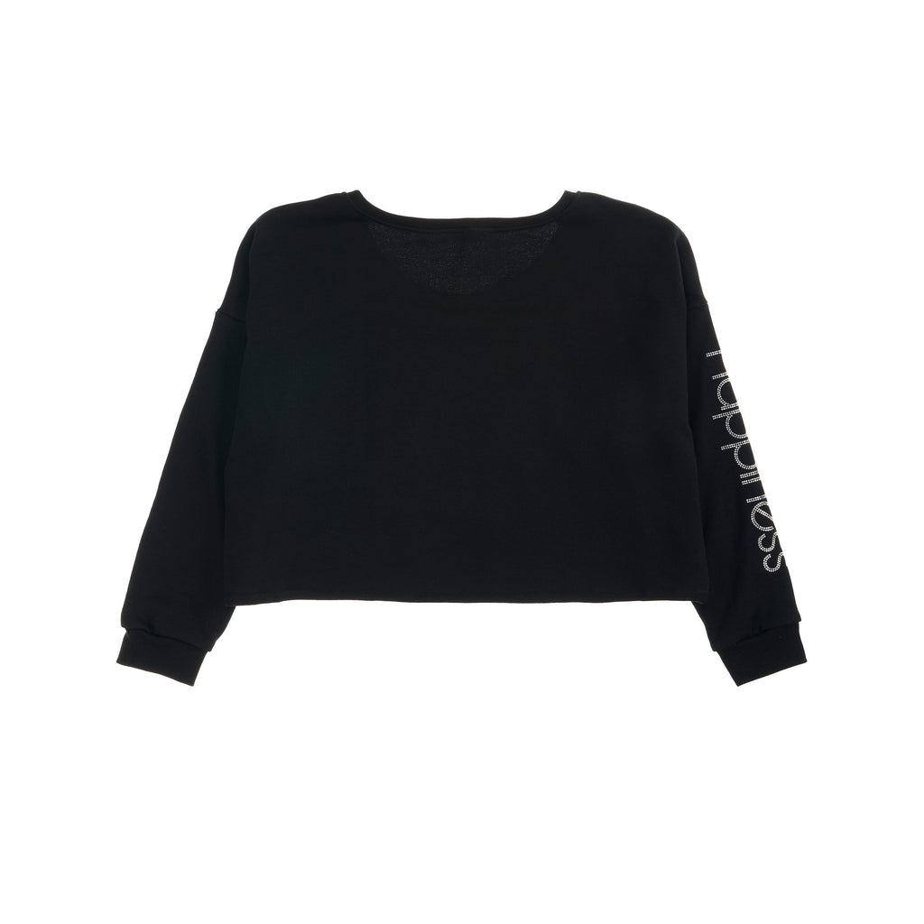 Crop Donna - Happiness Sleeve Strass e nodo - Happiness Shop Online
