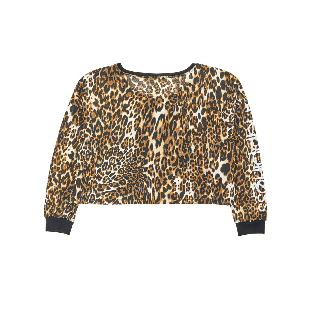 Crop Donna - Happiness Sleeve Print e nodo Leo - Happiness Shop Online