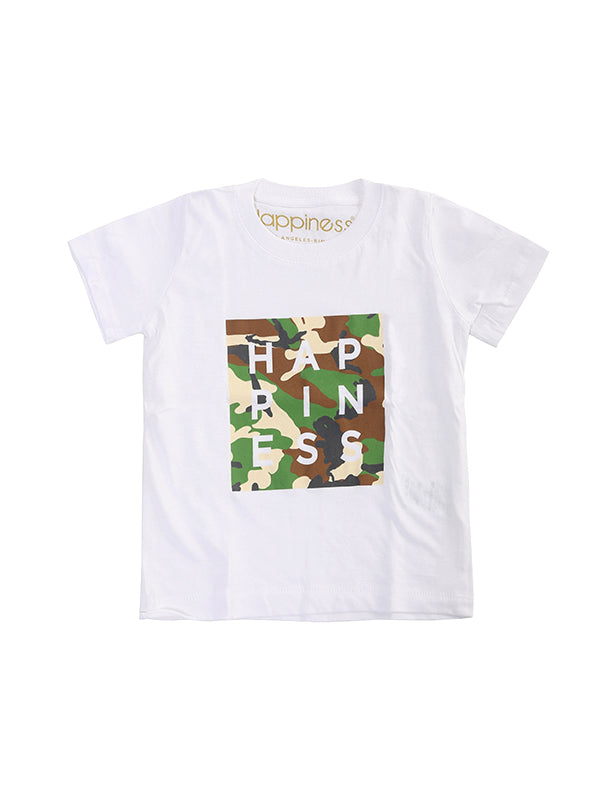 T-Shirt Bambino - Logo Camo - Happiness Shop Online