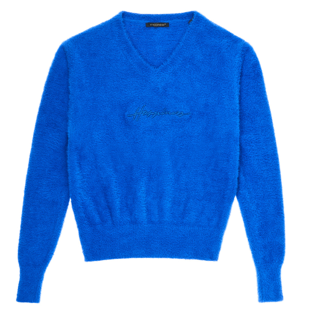 Pullover Scollo V Donna - Happiness Sign - Happiness Shop Online