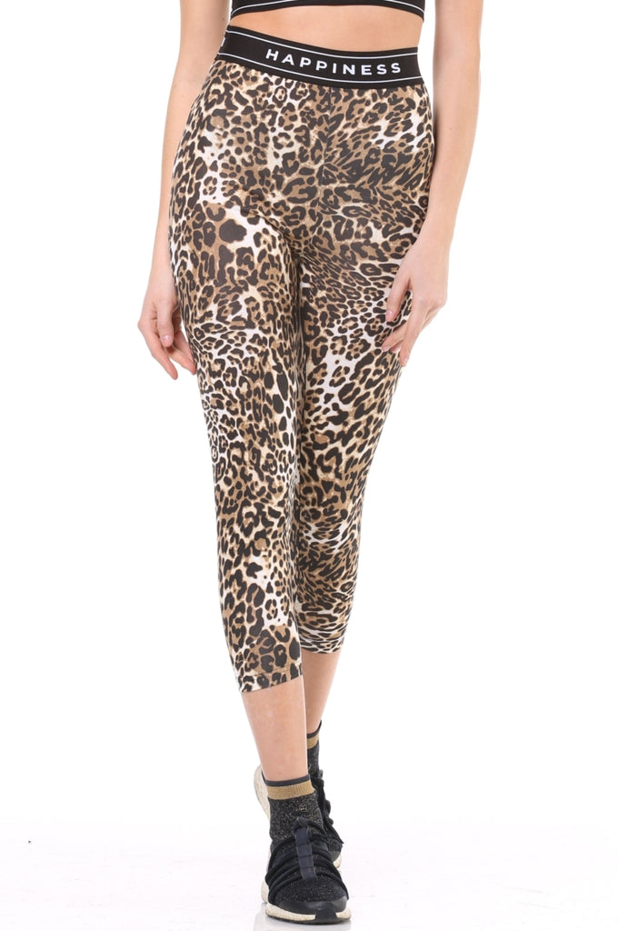 Leggings Donna - Leopard  Happiness - Happiness Shop Online
