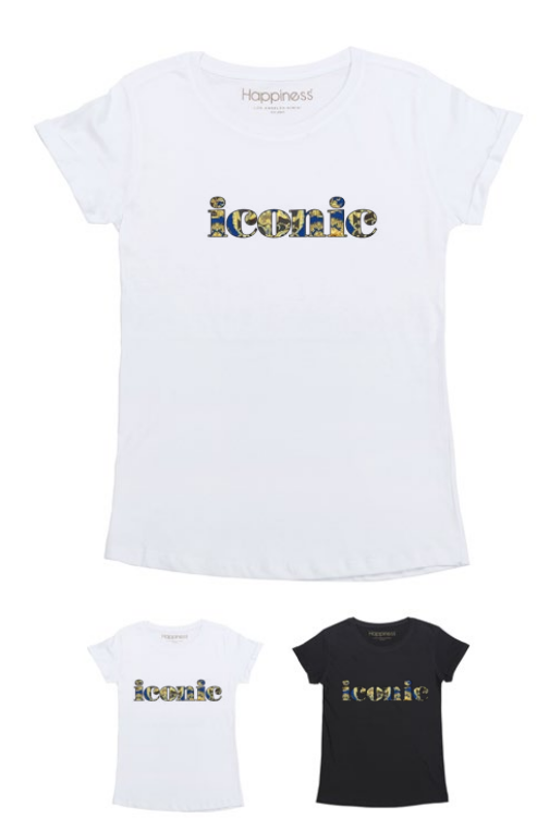 T-Shirt Donna - Iconic Baroque - Happiness Shop Online