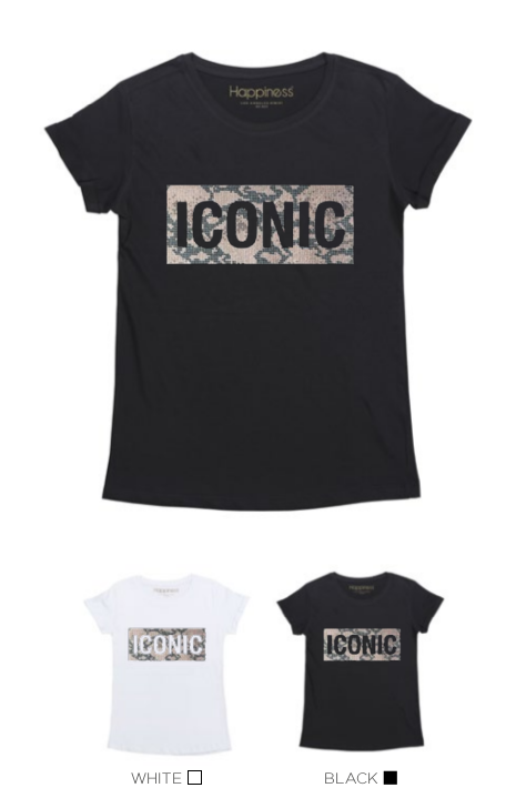 T-Shirt Donna - Iconic Strass Leo - Happiness Shop Online