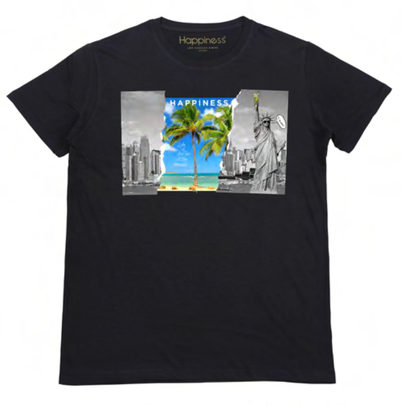 T-shirt Uomo - NY Beach - Happiness Shop Online
