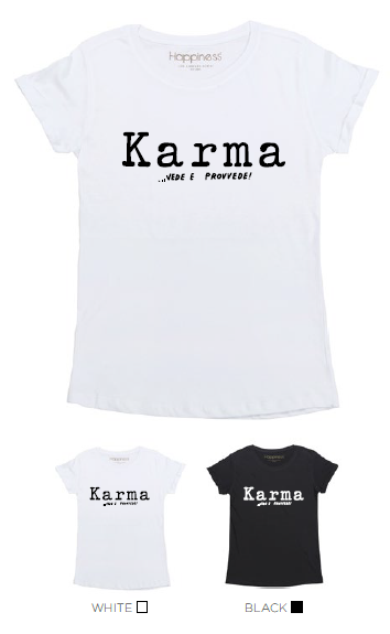 T-Shirt Donna - Karma - Happiness Shop Online