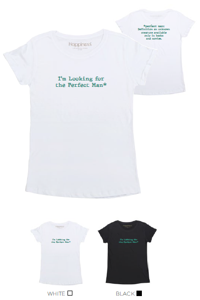 T-Shirt Donna - Perfect Man - Happiness Shop Online