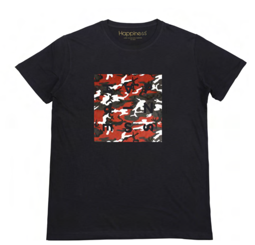 T-shirt Uomo - Red Camo Logo - Happiness Shop Online