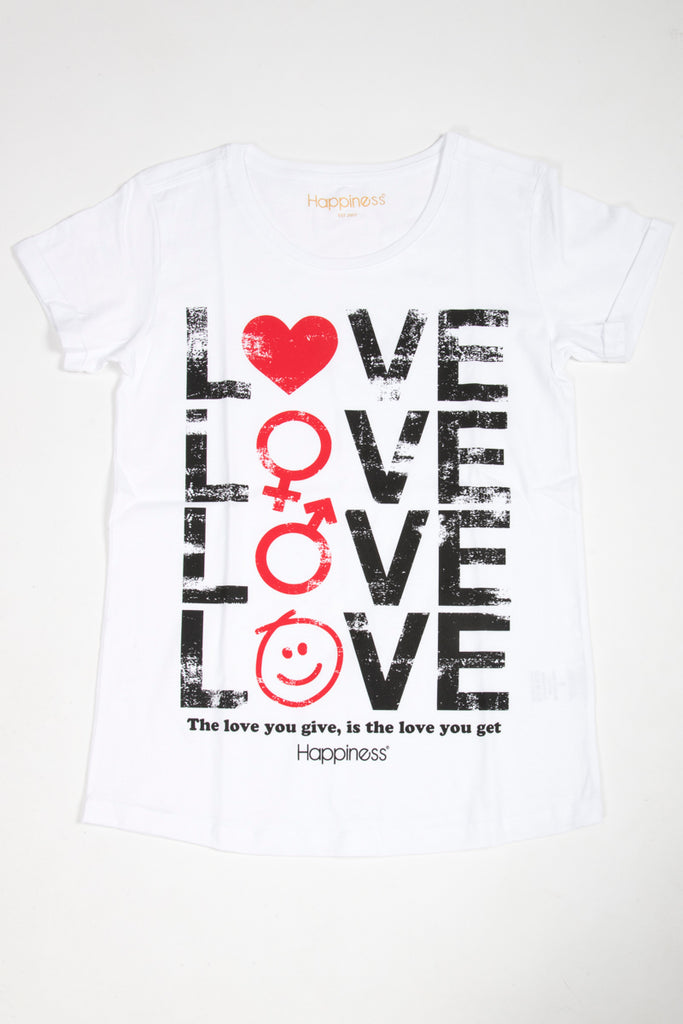 T-Shirt Donna - Give and Get Love - Happiness Shop Online