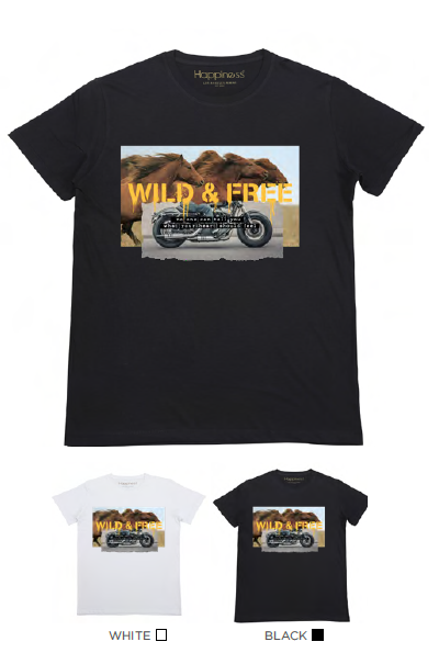 T-shirt Uomo - Wild & Free Horses - Happiness Shop Online