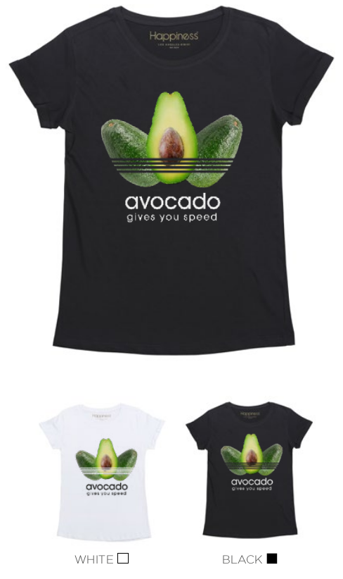 T-Shirt Donna - Avocado - Happiness Shop Online