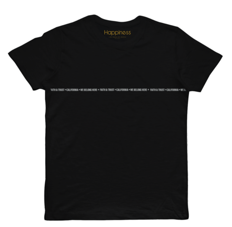 T-shirt Uomo - Cali Faith and Trust - Happiness Shop Online