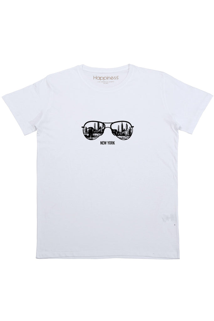 T-shirt Uomo - New York Sunglasses - Happiness Shop Online