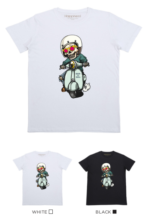 T-Shirt Bimbo - Motor Skull - Happiness Shop Online