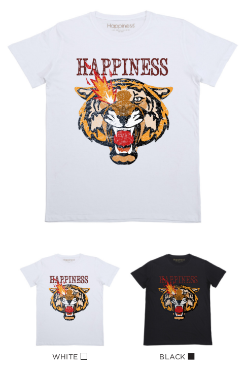 T-Shirt Bimbo - Tiger Flame - Happiness Shop Online