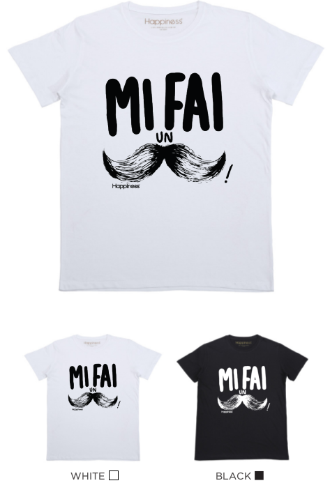 T-Shirt Bimbo - Mi fai un baffo - Happiness Shop Online