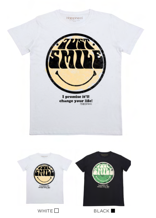 T-Shirt Bimbo - Just Smile - Happiness Shop Online
