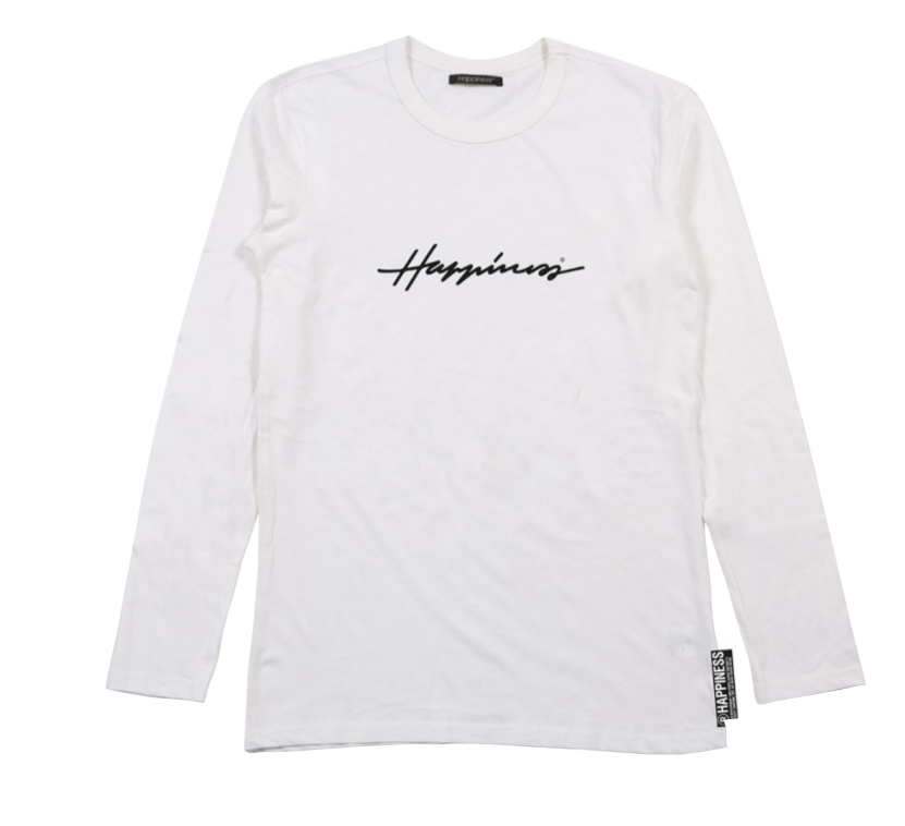 T-Shirt Long Sleeves Uomo - Happiness Sign - Happiness Shop Online