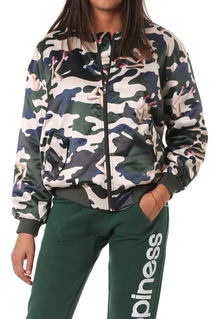 Bomber Xenia Camouflage - Happiness Shop Online
