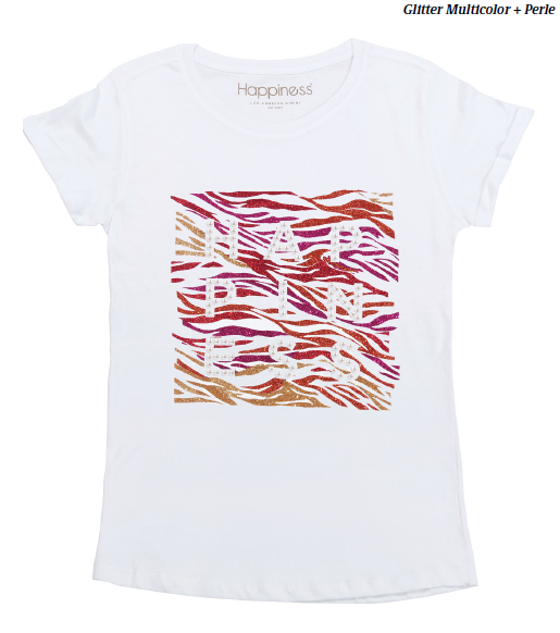 T-Shirt Donna - Happiness Multicolor - Happiness Shop Online