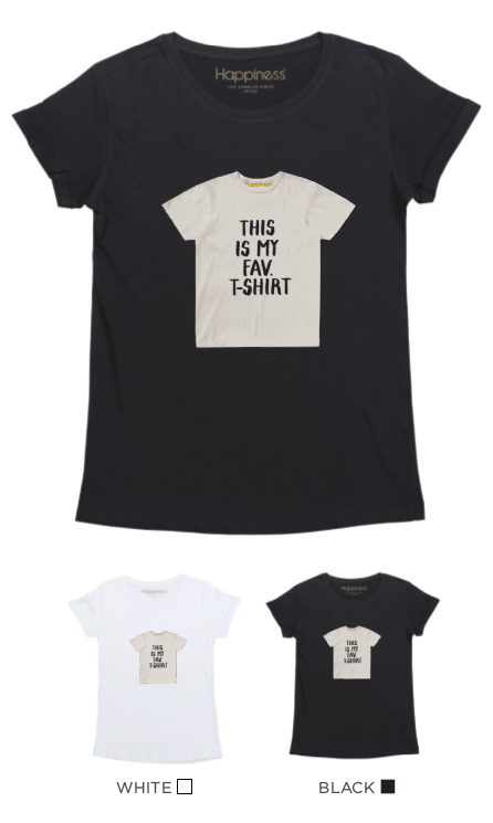 T-Shirt Donna - This Is My Fav. T-Shirt - Happiness Shop Online