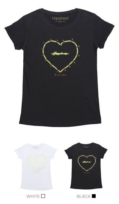 T-Shirt Donna - Heart Love Game - Happiness Shop Online