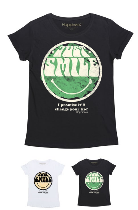 T-Shirt Donna - Just Smile - Happiness Shop Online