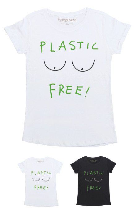 T-Shirt Donna - Plastic Free - Happiness Shop Online