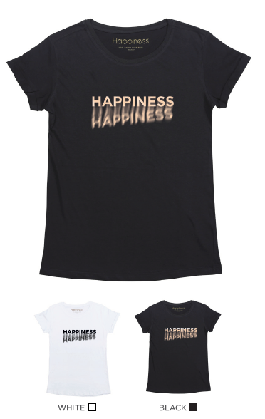 T-Shirt Donna - Happiness Shadow - Happiness Shop Online