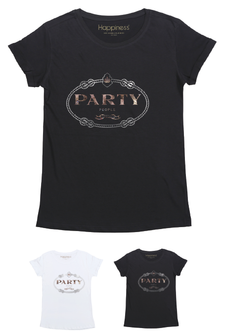 T-Shirt Donna - Party People - Happiness Shop Online