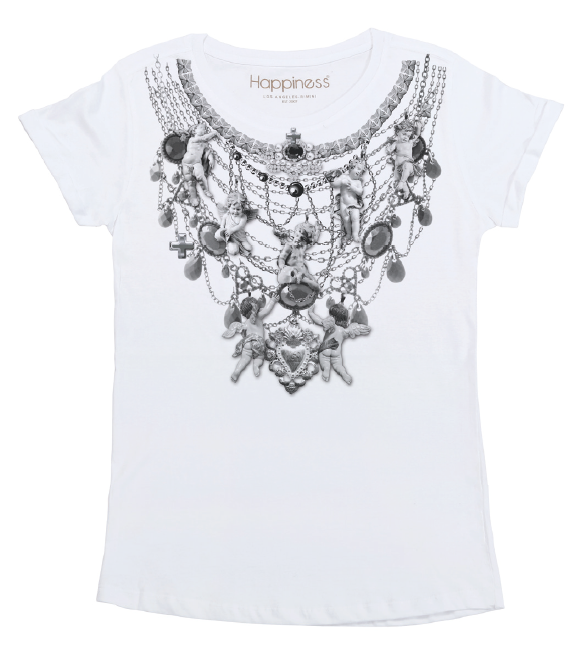 T-Shirt Donna - Collana Angeli - Happiness Shop Online