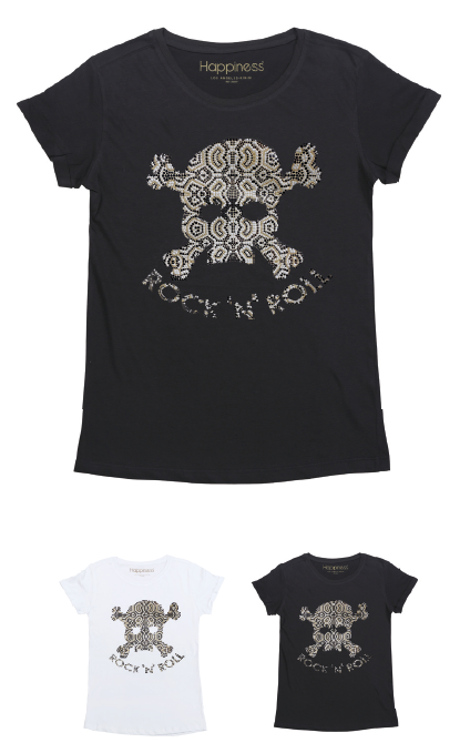 T-Shirt Donna - RNR Skull - Happiness Shop Online