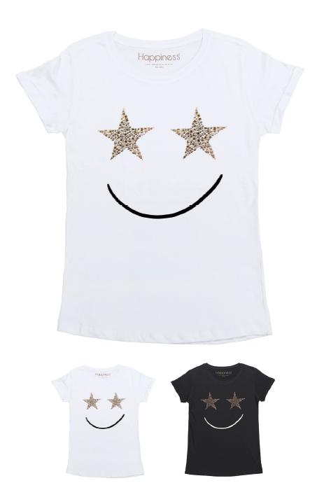 T-Shirt Donna - Smile Stars - Happiness Shop Online