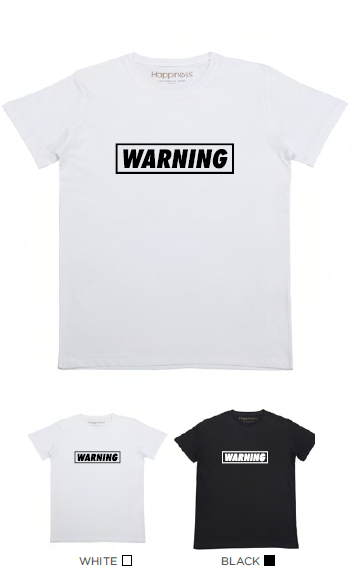 T-shirt Uomo - Warning - Happiness Shop Online