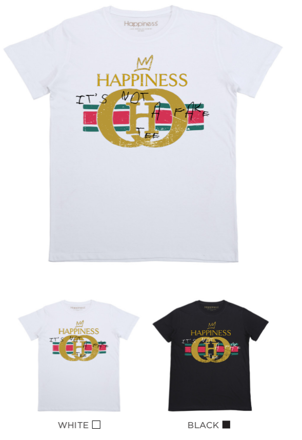 T-shirt Uomo - Happiness Not A Fake - Happiness Shop Online
