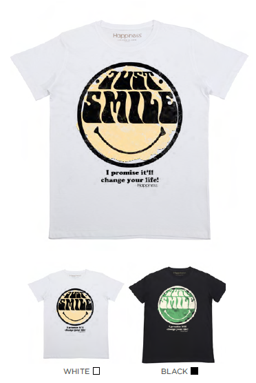 T-shirt Uomo - Just Smile - Happiness Shop Online