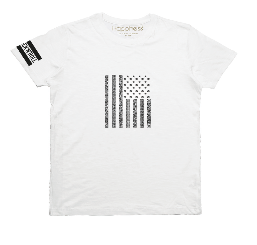 T-shirt Uomo - Rnr Vintage Flag - Happiness Shop Online