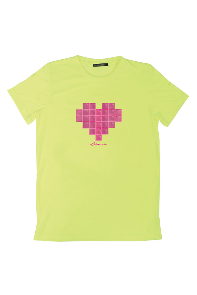 T-Shirt Donna - Tetris Heart Happiness - Happiness Shop Online