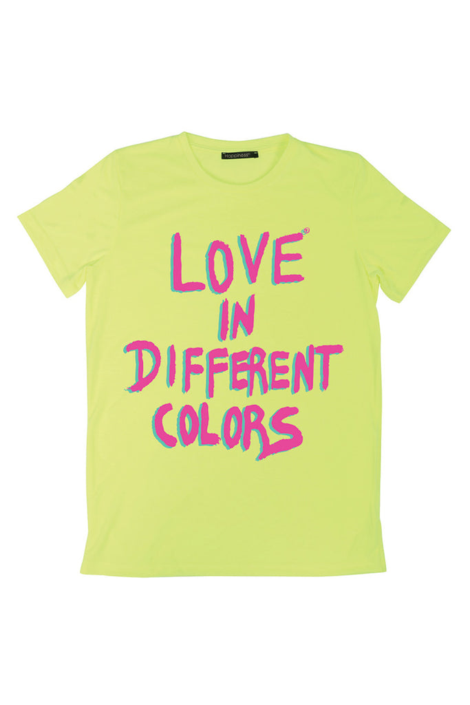 T-Shirt Donna - Love In Different Colors Laminata - Happiness Shop Online