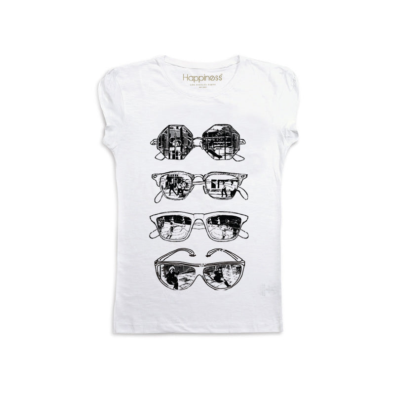 T-Shirt Bambina - Sunglasses - Happiness Shop Online